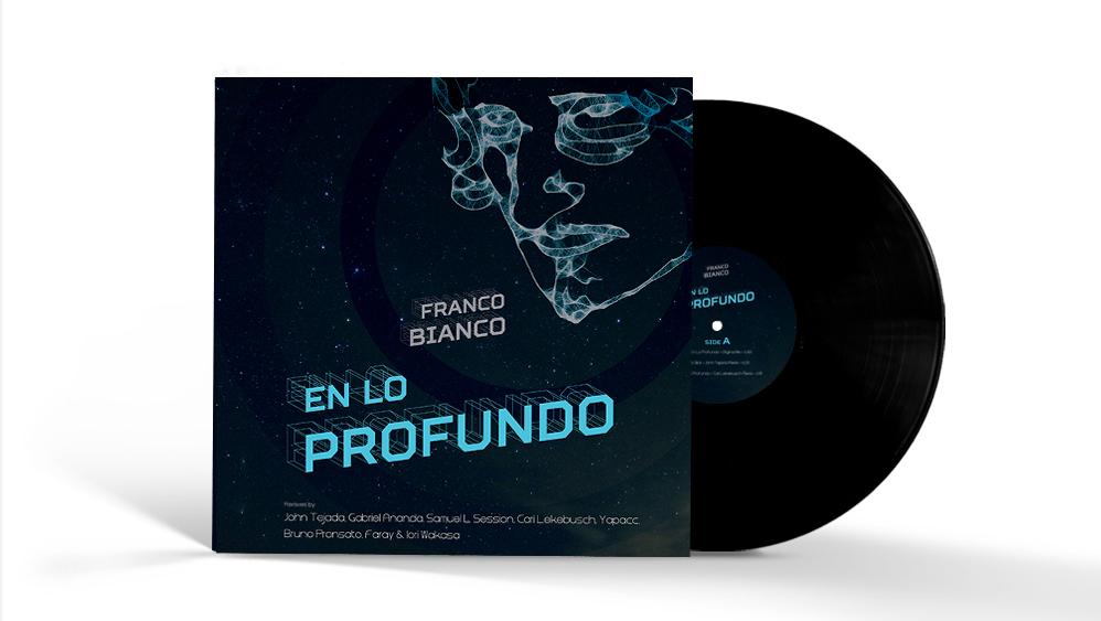 """""""EN LO PROFUNDO"""" Franco Bianco - Album cover + vinyl                               Artwork by Andreea Vlad"""