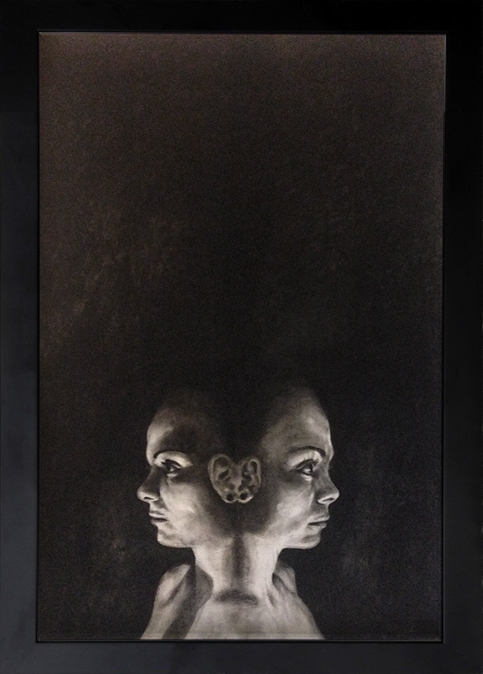 """""""Double identity"""" - drawing, pastel on paper, 70 x 100 cm, 2014"""