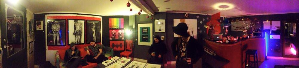 2. Red Xmas at Red Door - panoramic view