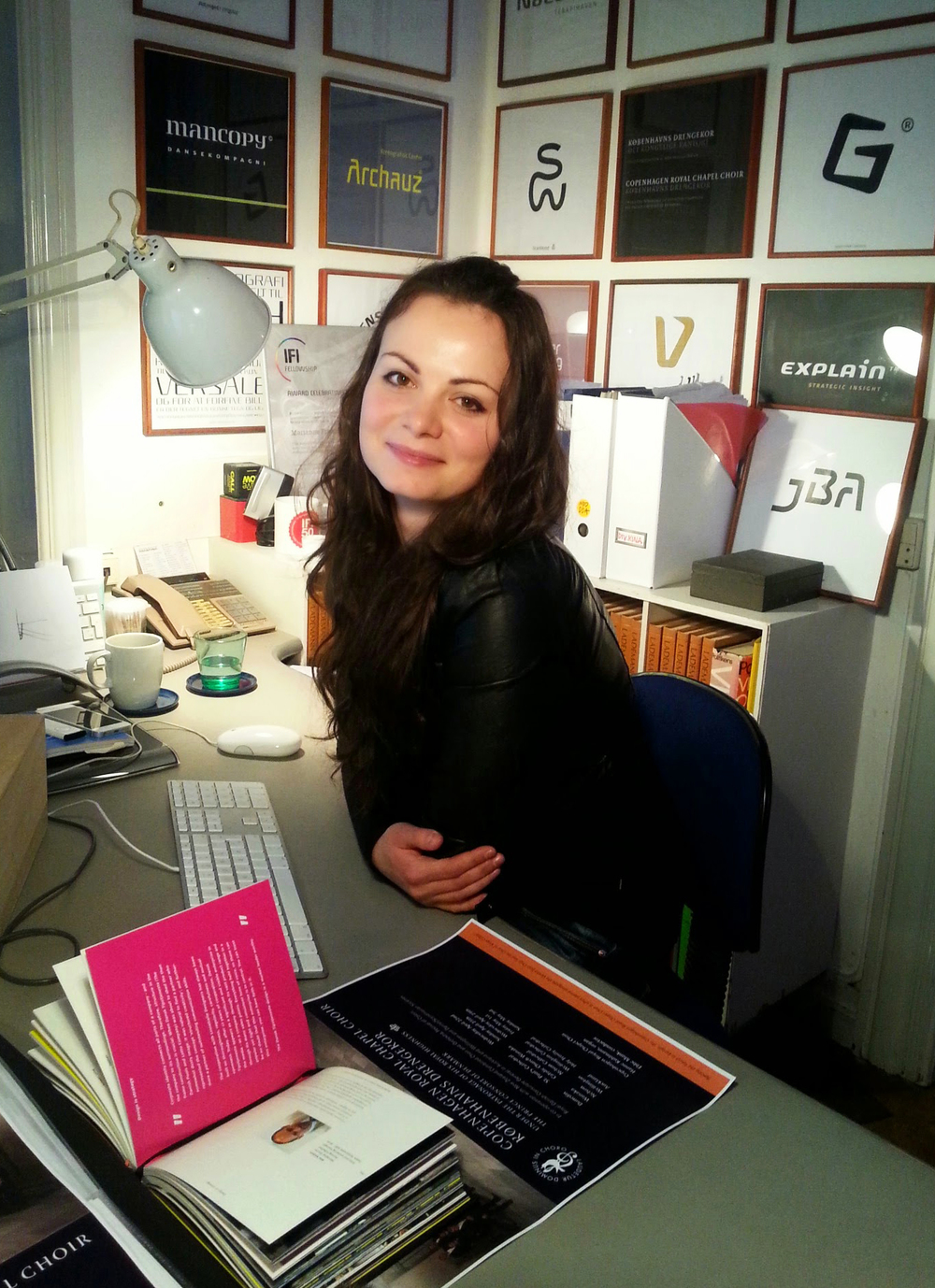 4. Me at my desk in Scandinavian Branding's office                  Photo by Andrada Borca