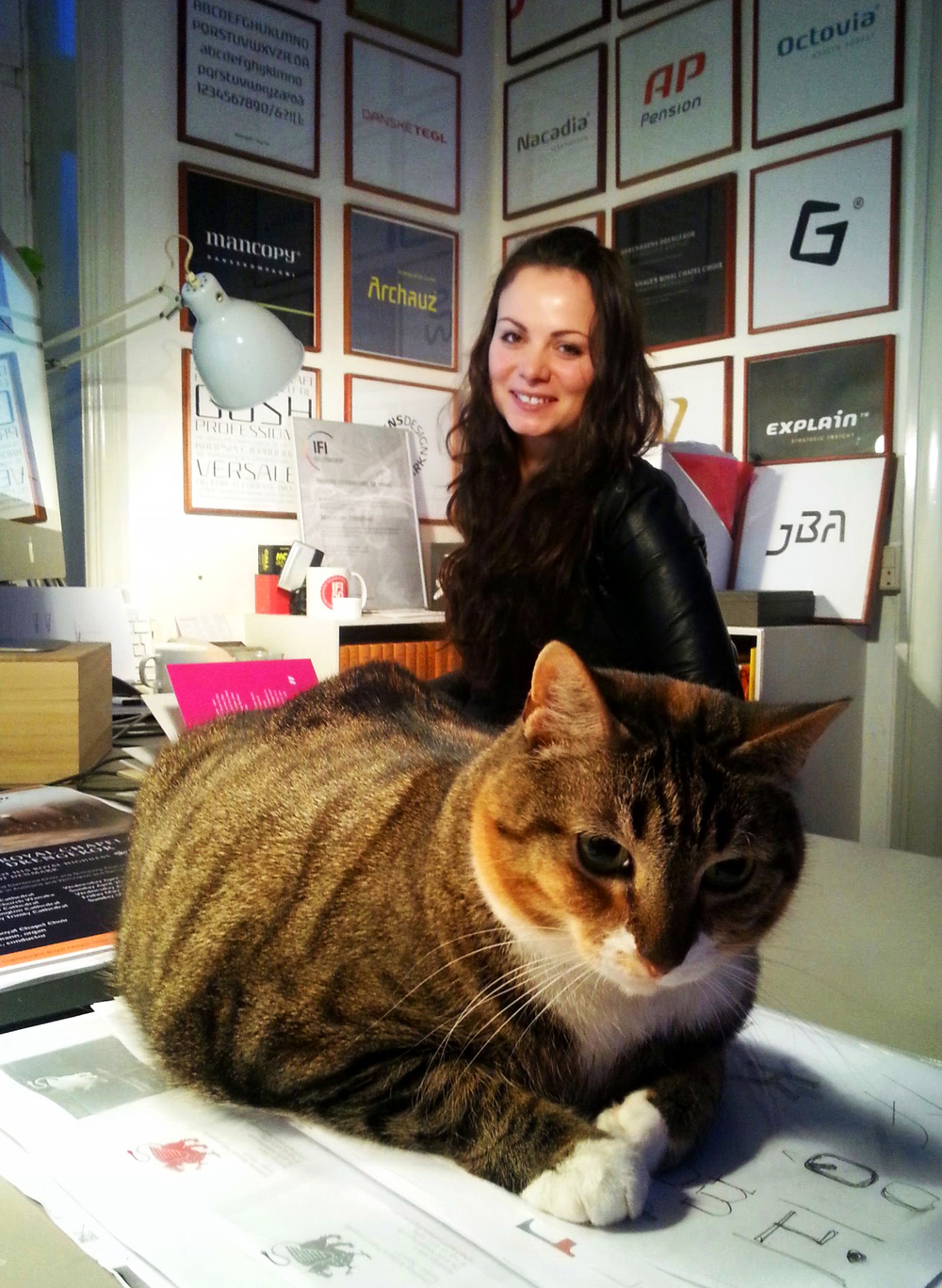 6. The owner of my desk, the Scandinavian Branding Puss (or Puma...I still wonder). :)      Photo by Andrada Borca