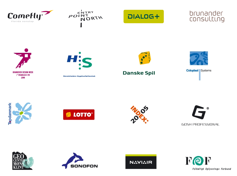 2. A selection of the SB clients                       Source:  www.scandinavianbranding.dk