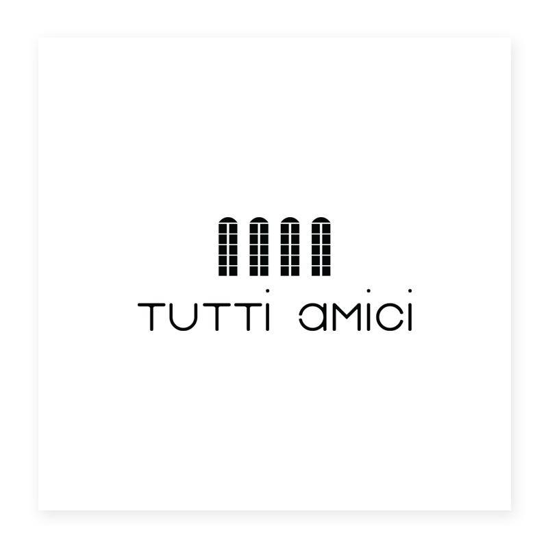 Italian Restaurant Logo Design Quot Tutti Amici Quot Logo Italian Restaurant in Paris