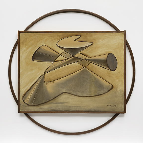 5. Man Ray,  King Lear  , 1948. Oil on canvas. Hirshhorn Museum and Sculpture Garden, Smithsonian Institution, Washington, DC. Gift of Joseph H. Hirshhorn, 1972. © Man Ray Trust / Artists Rights Society (ARS), NY /ADAGP, Paris 2015. Photography by Cathy Carver.