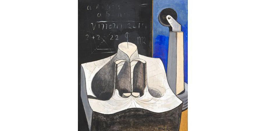 6. Man Ray  Julius Caesar , 1948,Oil on Masorite, Rosalin & Melvin Jacobs Collection, New York  © MAN RAY TRUST/ADAGP, Paris 2015/billedkunst.dk