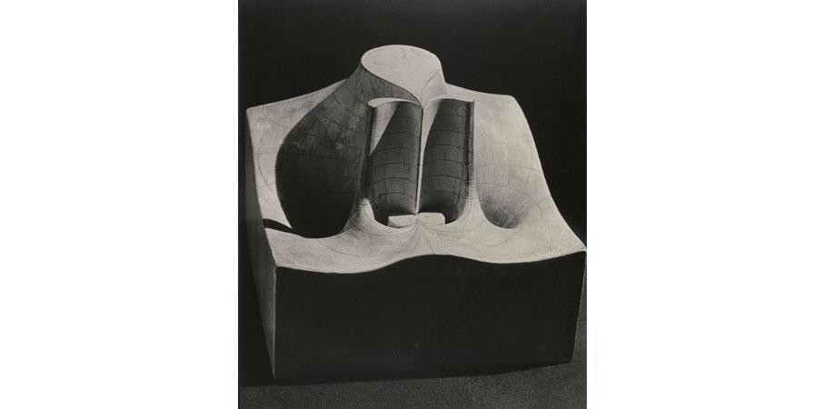 7.  Real part of the function w=el/z , c. 1900,Plaster, Brill Schilling Collection, Institut Henri Poincaré © MAN RAY TRUST/ADAGP, Paris 2015/billedkunst.dk