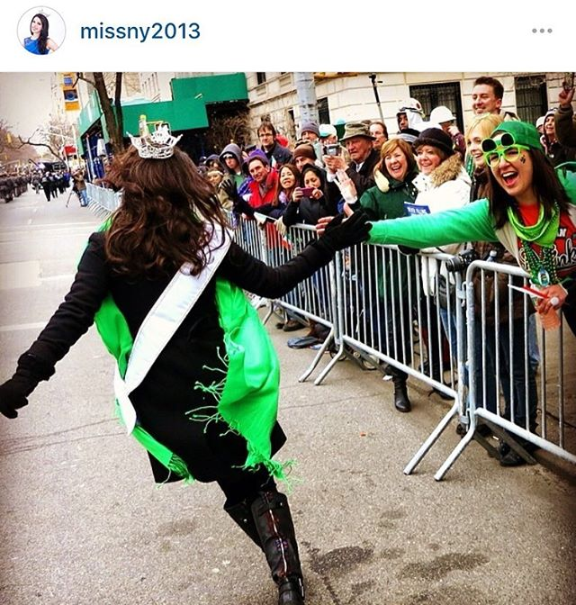 Happy St. Patrick's Day! #Tbt I had the most amazing time in the St. Patrick's Day parade when I was #MissNewYork2013 #OneOfMyFavoriteAppearnaces #IamIrish @missamericany will be in the parade this year, don't forget to check it out. :) #LuckyDay