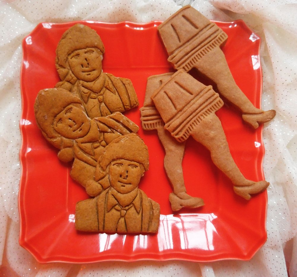 "Holiday movie classics! the Clark W. Griswold Jr. - ""Rusty"" gingerbread cookies filled with eggnog icing. A sure way to enjoy a fun, old-fashioned family Christmas! Next, it's a major award! Malty Ovaltine biscuits filled with ""oh fudddge"" filling."