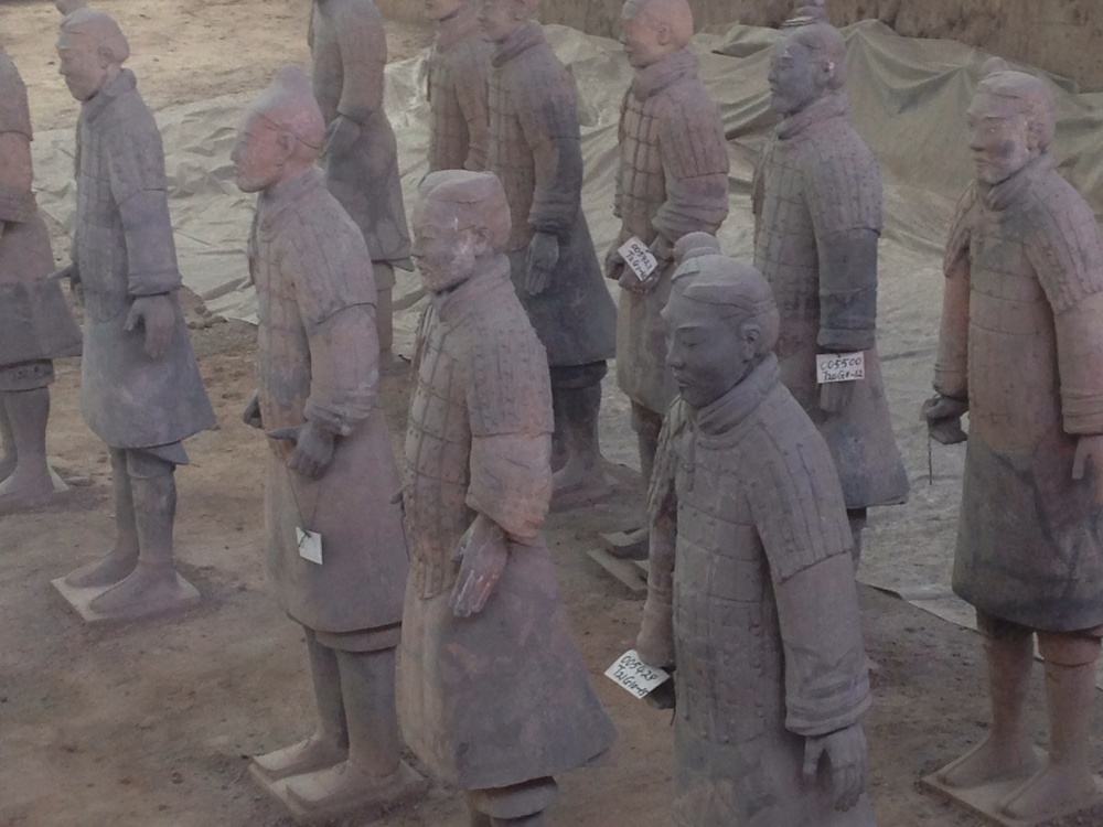 terra cotta soldiers.