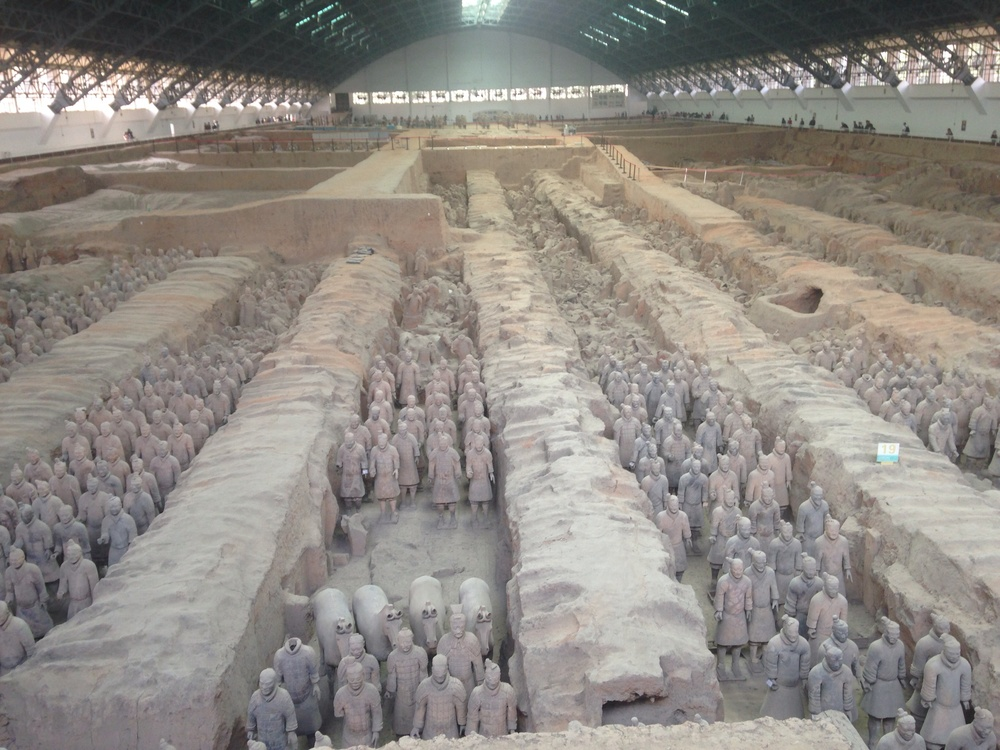 many many terra cotta warriors.