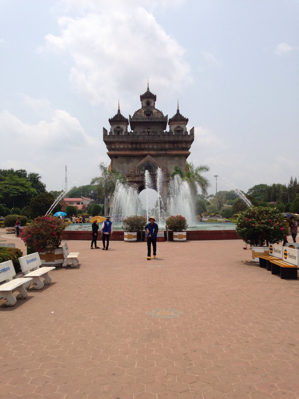 Vientiane's own take on the Arc de Triomphe, called Patuxai.