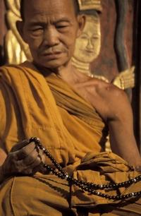 Buddhist with Prayer Beads
