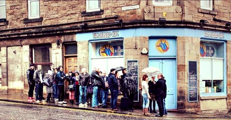 Queueing for the best Scones in Edinburgh