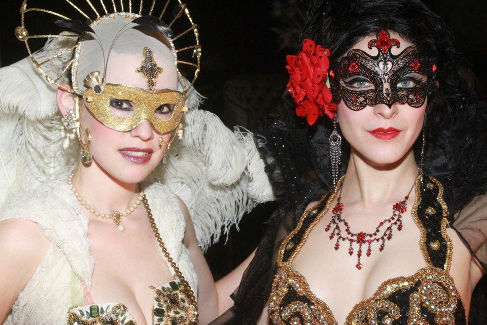 Costumed Showgirls