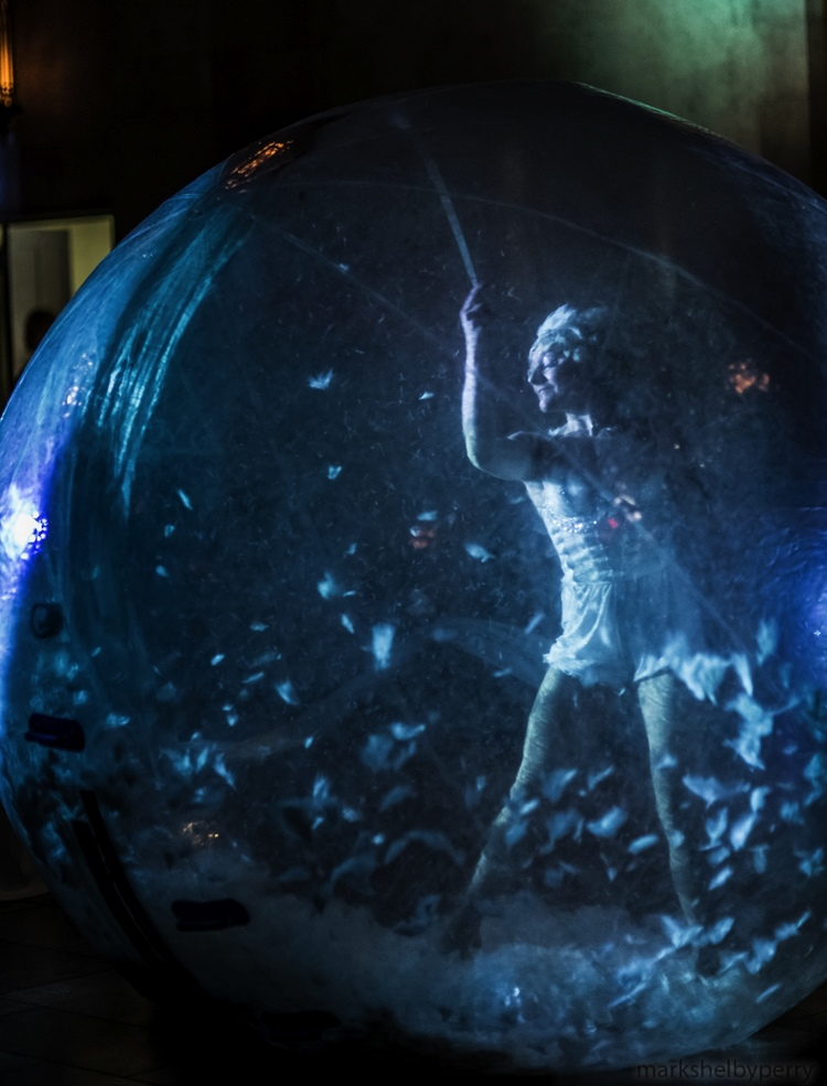 Girl in a Snow Globe
