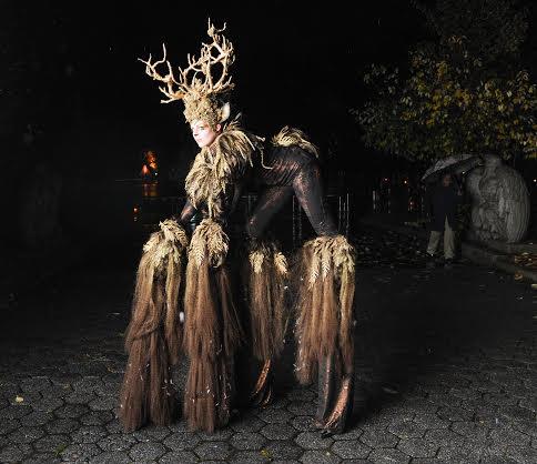 Fantasy Horned Stilt Walker