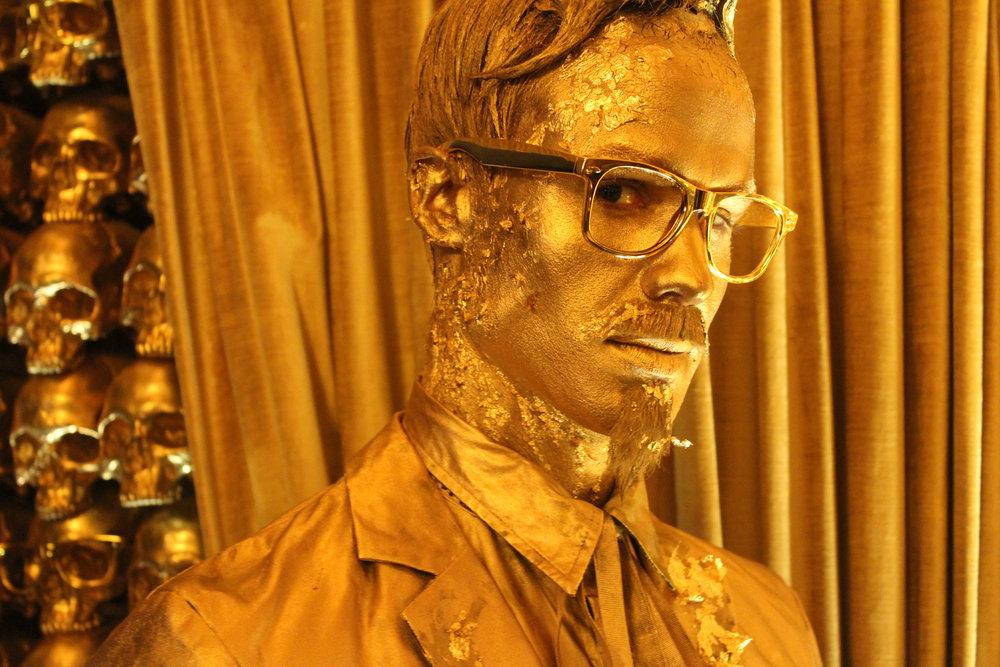 Gold Character Body Art Makeup