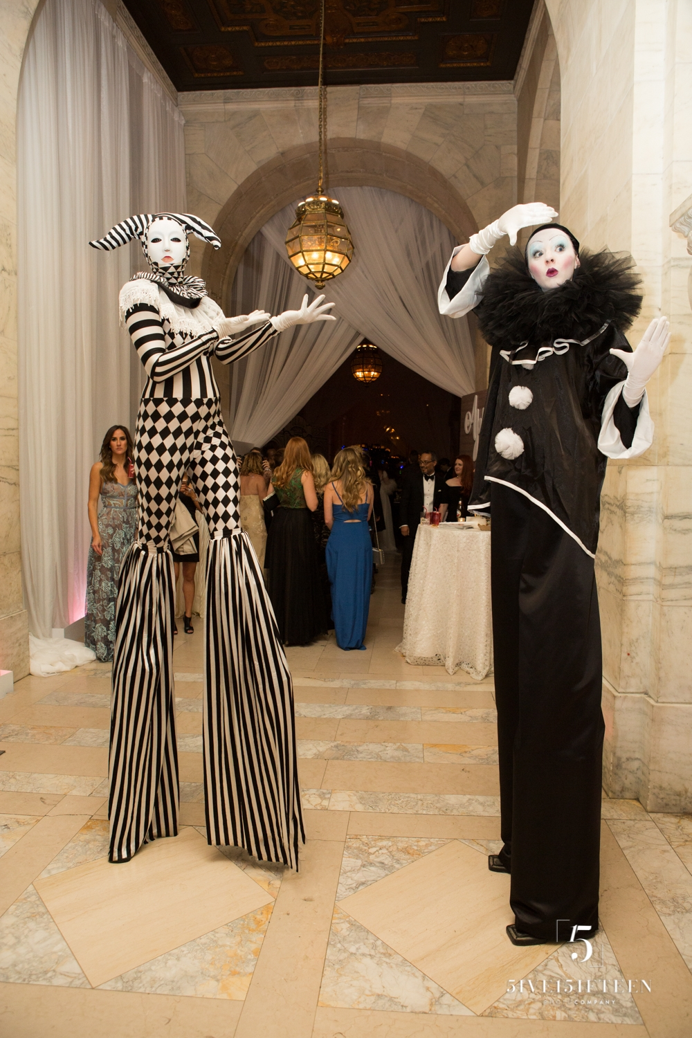 Pierrot Stilt Walker Mime Harlequin