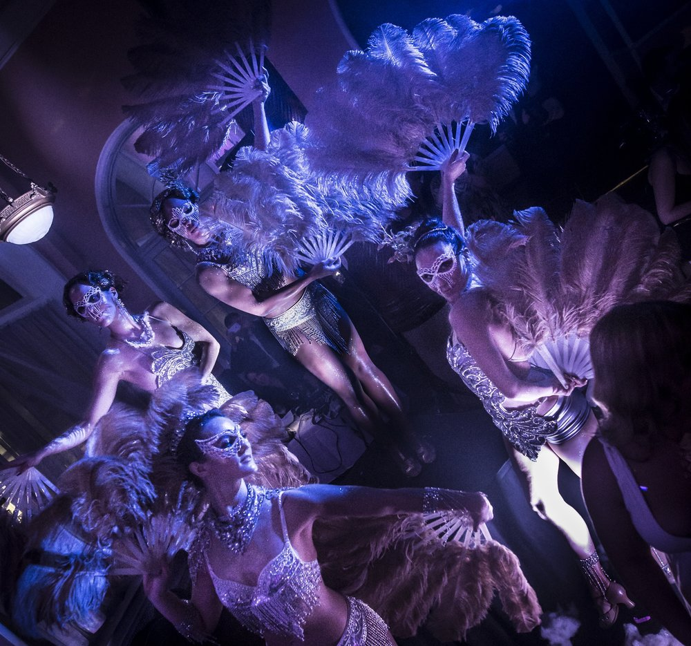 Burlesque Feather Showgirls