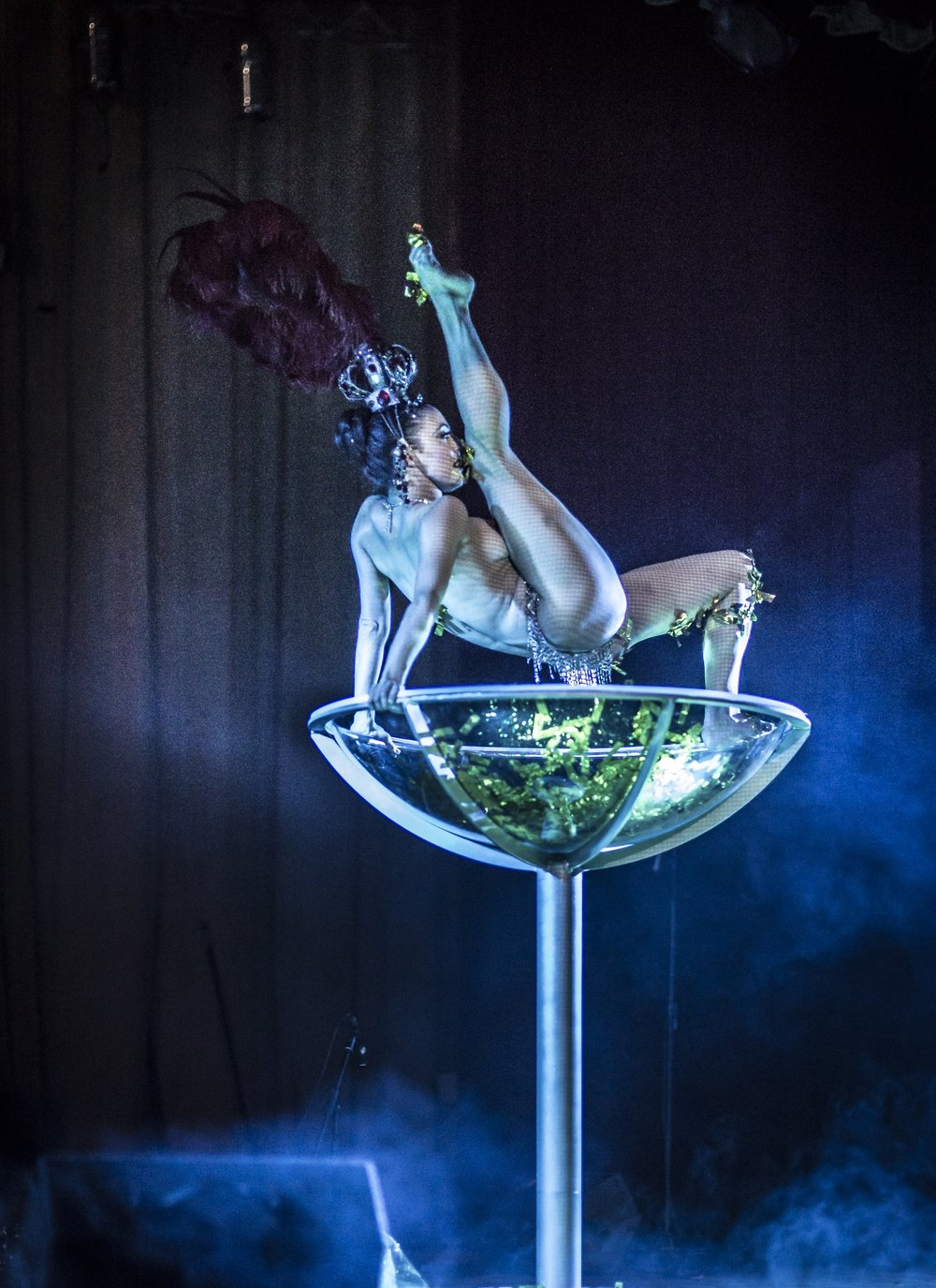 Giant Champagne Glass Burlesque