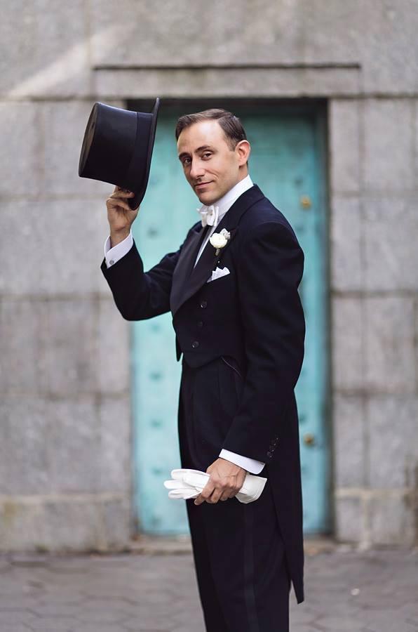 Male Gatsby White Tie Greeter