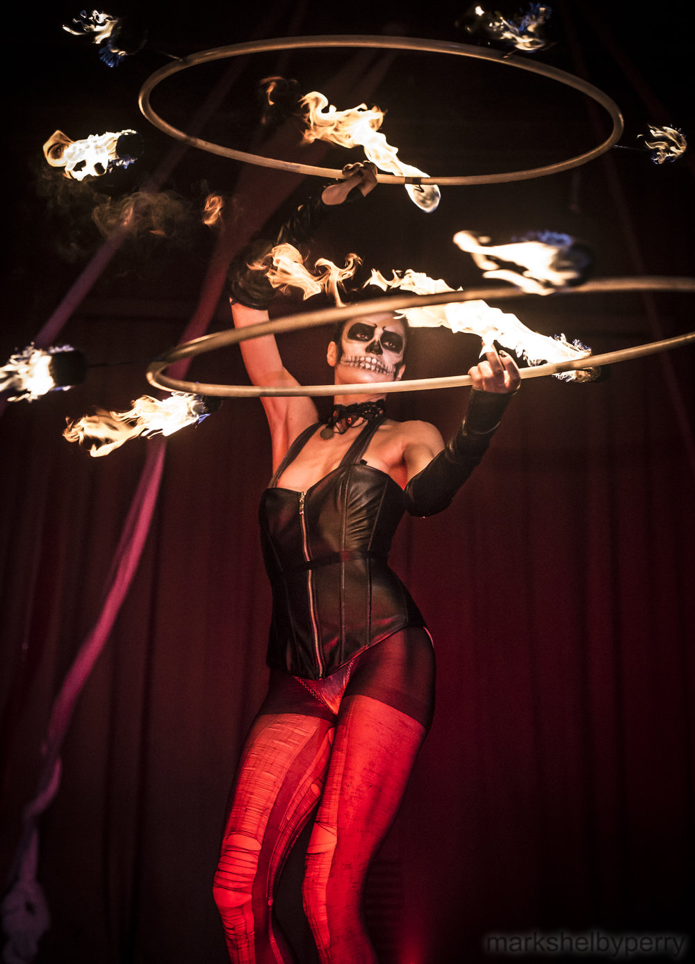 Fire Hoop Performer