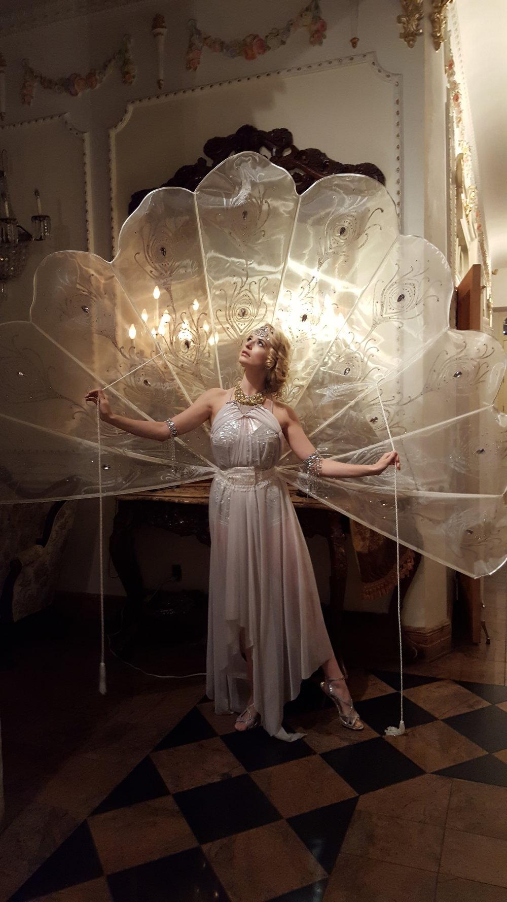 Art Deco Peacock Showgirl