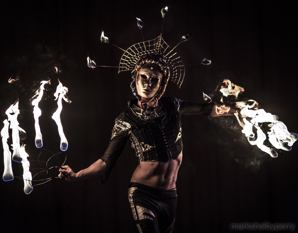 Masked Fire Dancer