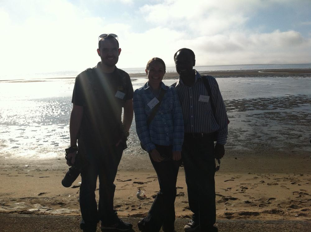 Bobby, Stephanie and Matti at Walvis Bay