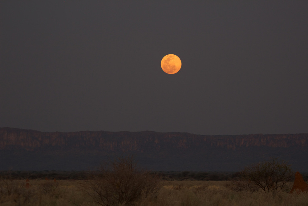 Super Moon over Namibia