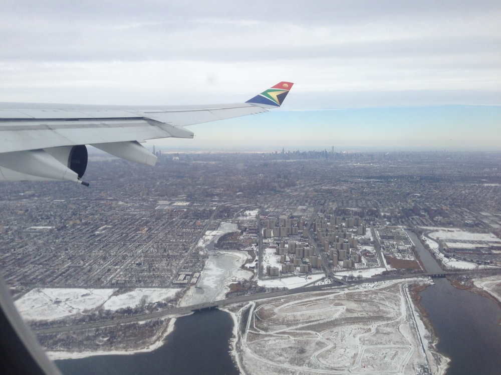 Goodbye snow covered New York City