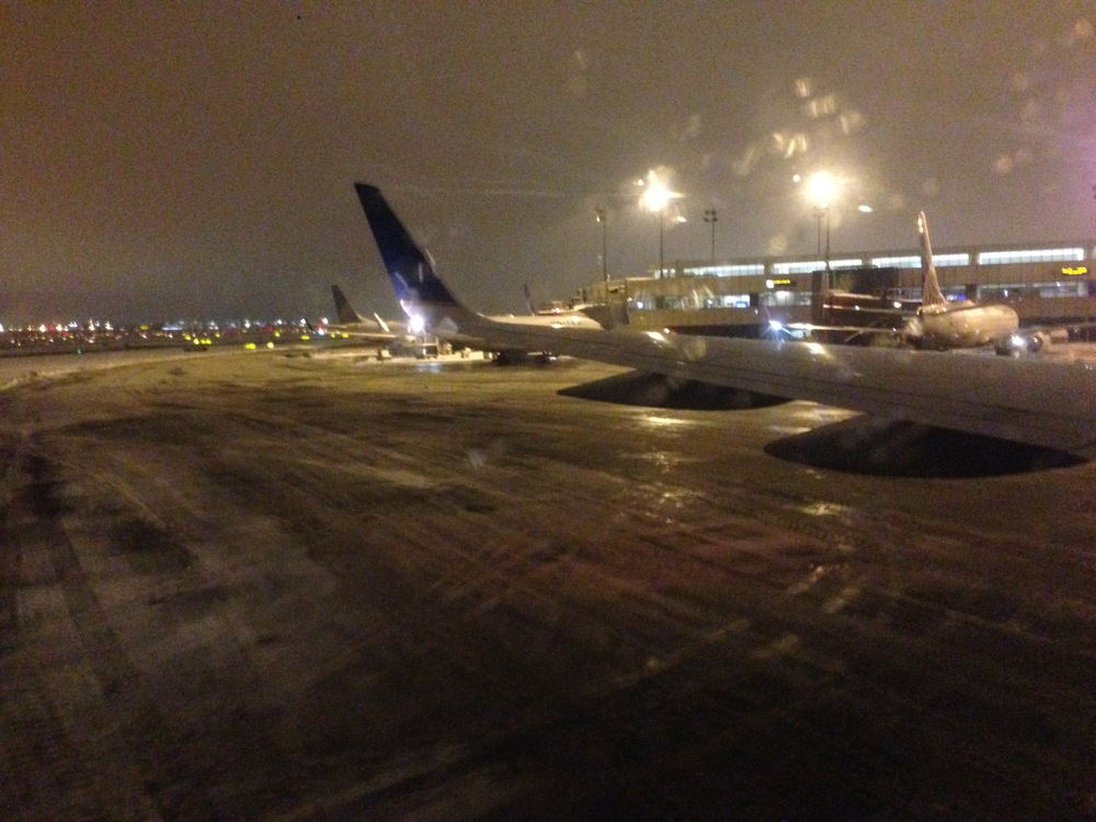 Landing in the snow at Newark