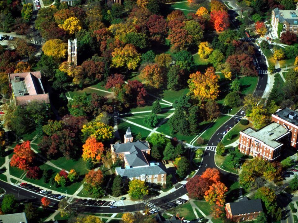 Michigan State University campus aerial photo