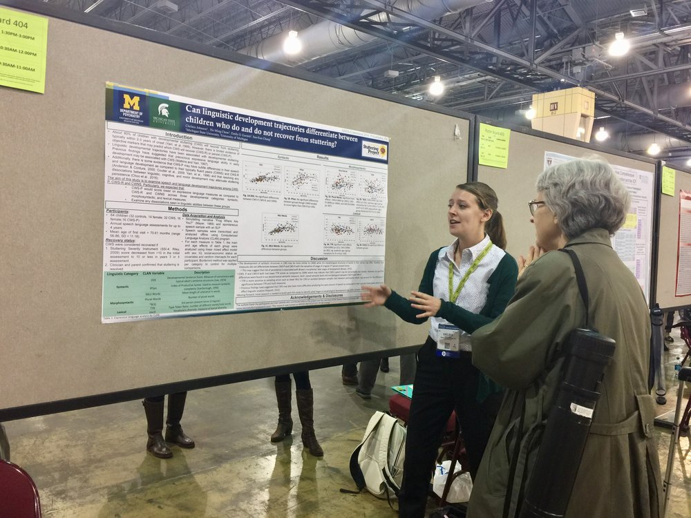 Chelsea Johnson in action at her poster at ASHA2016
