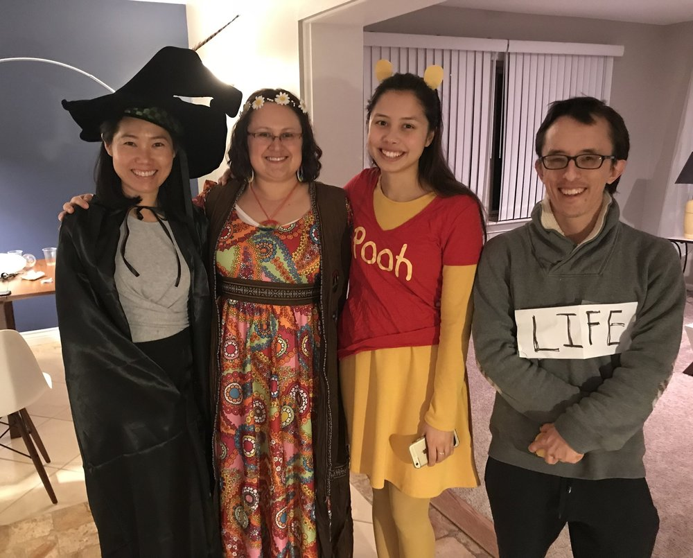U of M Lab members celebrating Halloween