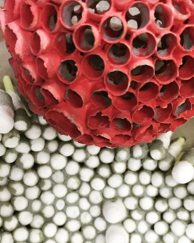 Green and red 😳  Met my first person with trypophobia the other day. It was really interesting to see her reaction to my work. Walked up and immediately turned around anxiously.