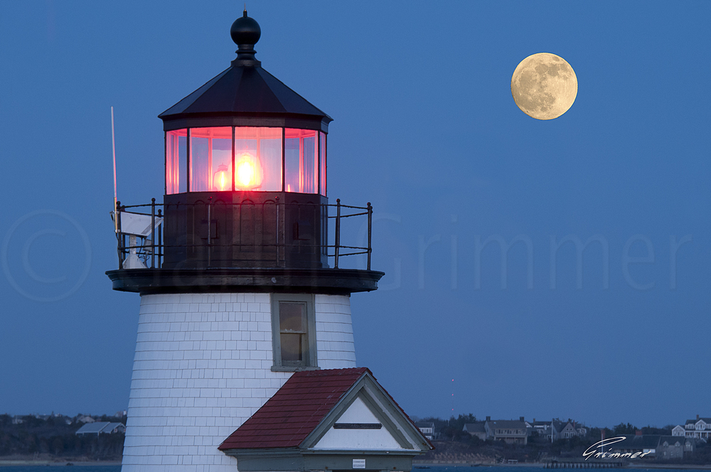 Moon at Brant Point