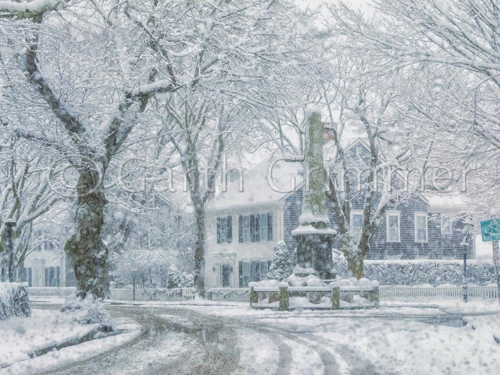 Civil War Monument  - Winter