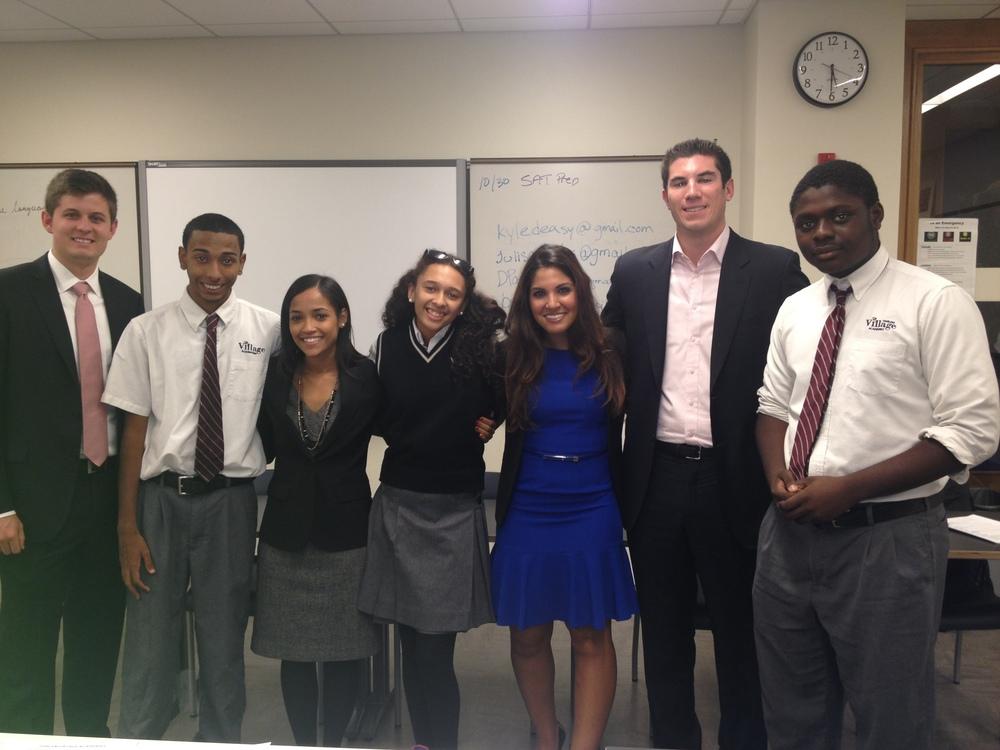 Danielle and Team Blingitt mentoring a few fantastic students at Harlem Village Academies.