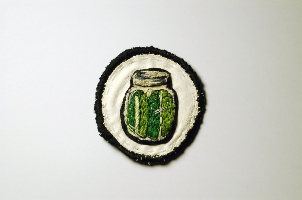 Tiny jar of pickles patch, 2013