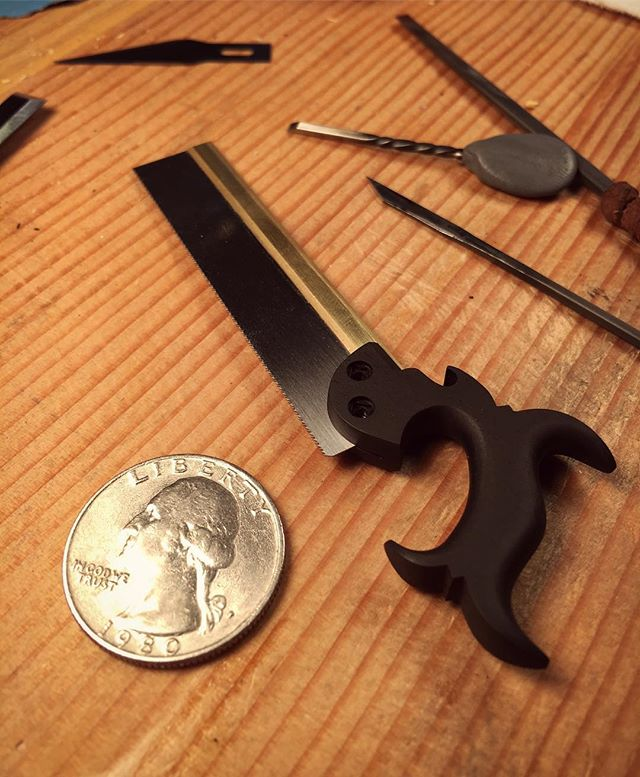 Ebony dovetail saw in the making.