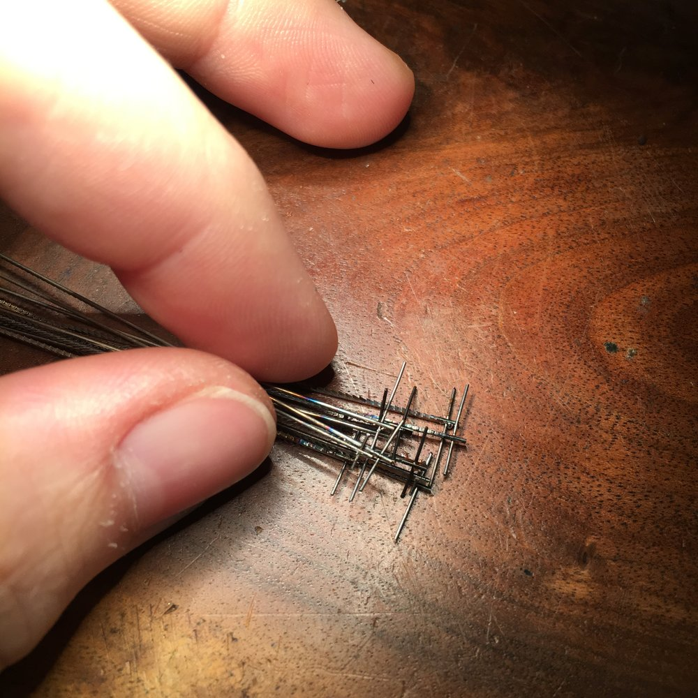 Soldered pins prior to trimming