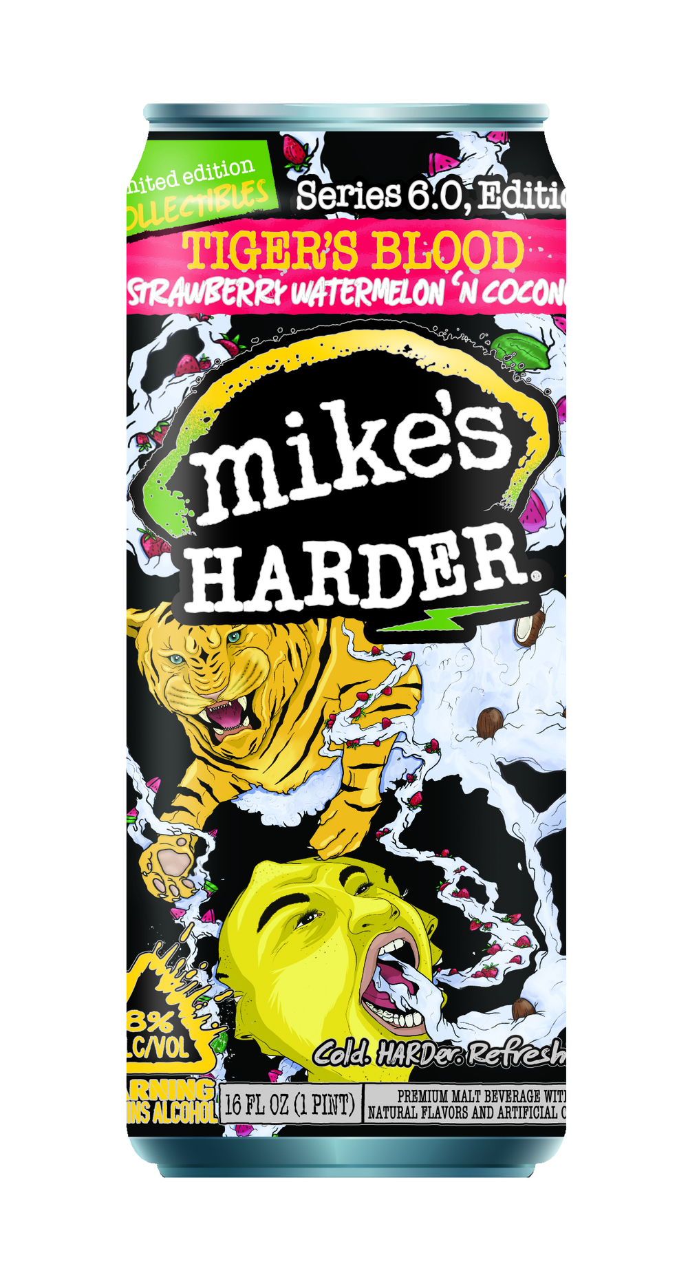 I competed in a Can Design Contest for Mikes Hard Lemonade: Tigers Blood I ended up winning one of the 3 prizes and will have this can printed and sold in stores the summer of 2016 The click through link takes you to my featured page on Zooppa.com
