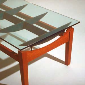 Custom Furniture   Steel, Glass And Cherry