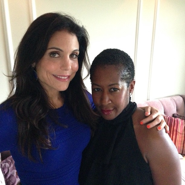 With Bethenny Frankel.