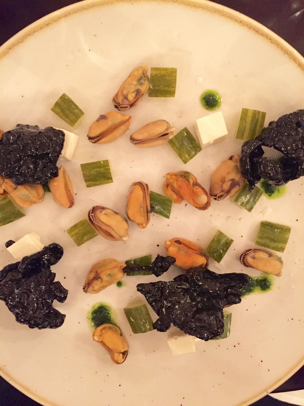 Deconstructed mussels