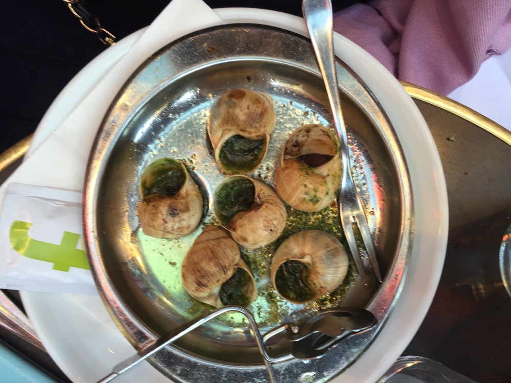 Escargots - tender and delicious