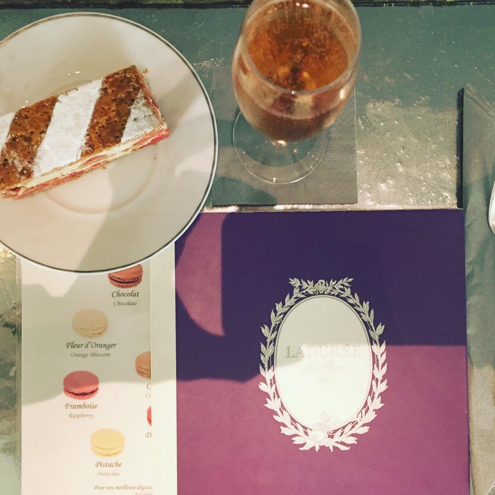 Rosé and dessert