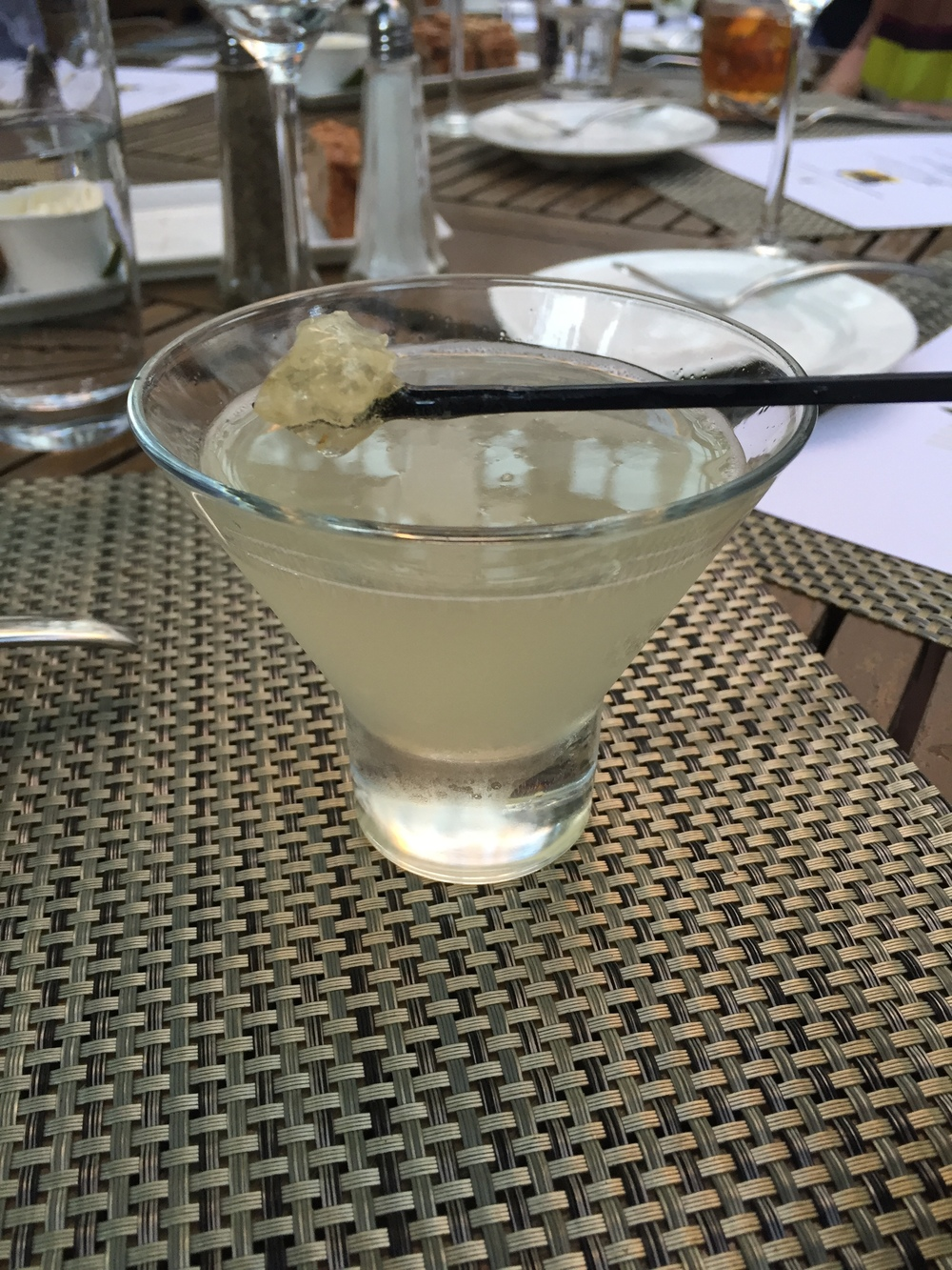 Bee-tini, the hotel's signature cocktail with honeycomb