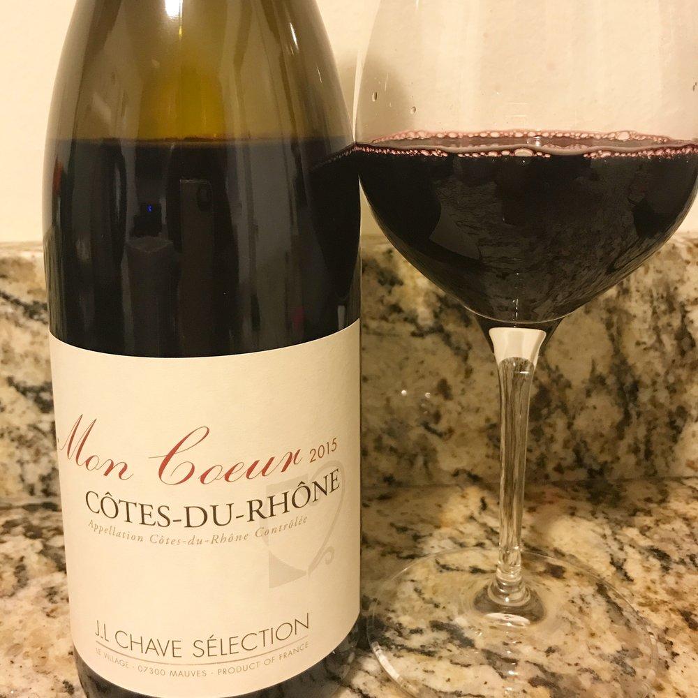 2015 Jean Louis Chave Mon Coeur Côtes du Rhône